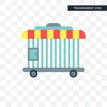 Kooi vector pictogram geïsoleerd op transparante achtergrond, kooi logo concept