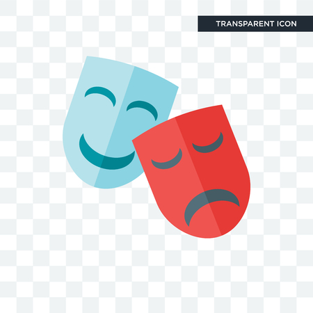 Drama vector icon isolated on transparent background, Drama logo concept