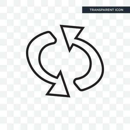Loop arrows vector icon isolated on transparent background, Loop arrows logo concept