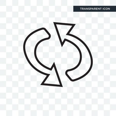 Schleifenpfeile-Vektorikone lokalisiert auf transparentem Hintergrund, Schleifenpfeil-Logo-Konzept