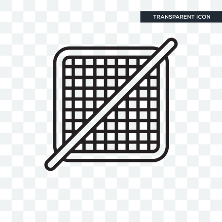 Grid off vector icon isolated on transparent background, Grid off logo concept 向量圖像