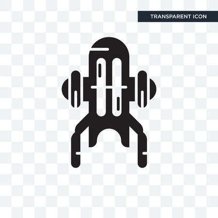 Jet pack vector icon isolated on transparent background, Jet pack logo concept