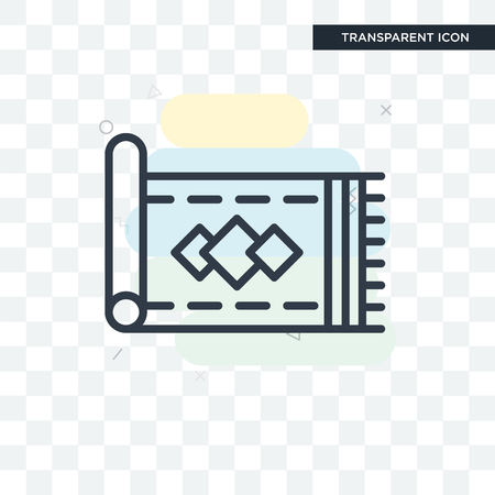 Carpet vector icon isolated on transparent background, Carpet logo concept Illustration