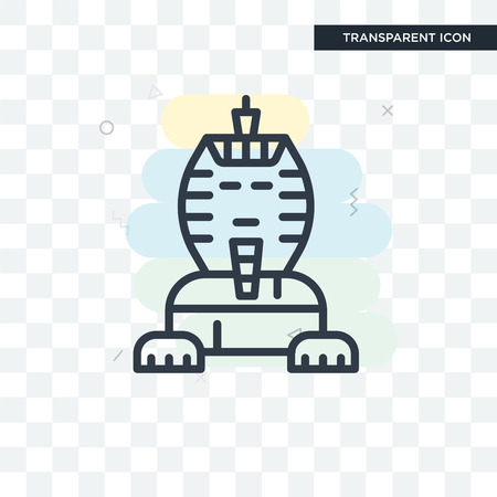 Sphinx vector icon isolated on transparent background, Sphinx logo concept
