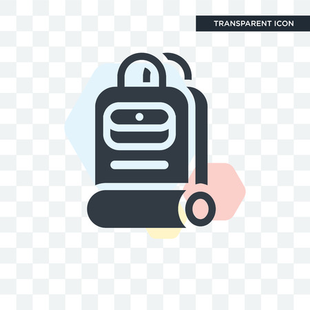 Backpacks vector icon isolated on transparent background, Backpacks logo concept