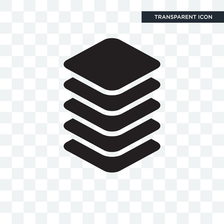 Layer vector icon isolated on transparent background, Layer logo concept