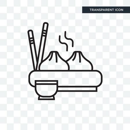 Icône de vecteur de boulette isolé sur fond transparent, concept logo Dumpling