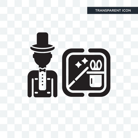 Magician vector icon isolated on transparent background, Magician logo concept