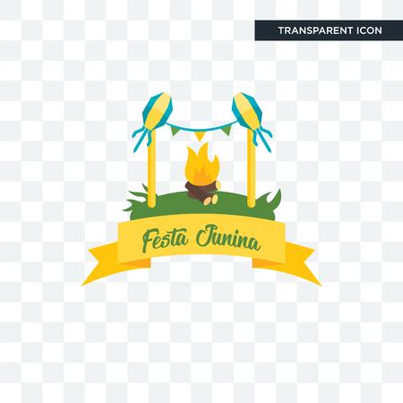 Festa junina vector icon isolated on transparent background, Festa junina logo concept