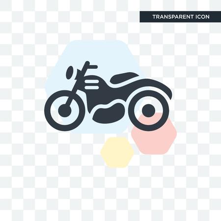 Motorbike vector icon isolated on transparent background, Motorbike logo concept