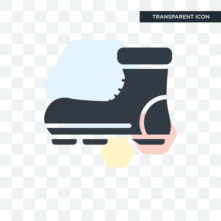 Boot vector icon isolated on transparent background, Boot logo concept