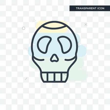Skull vector icon isolated on transparent background, Skull logo concept
