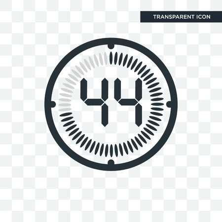 The 44 minutes vector icon isolated on transparent background, The 44 minutes logo concept