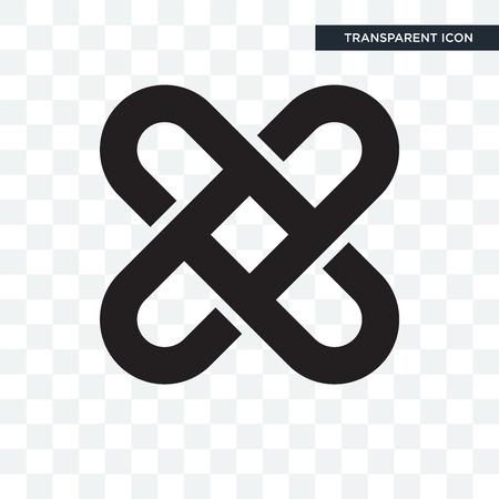 Icono de vector de enclavamiento aislado sobre fondo transparente, concepto de logo de enclavamiento