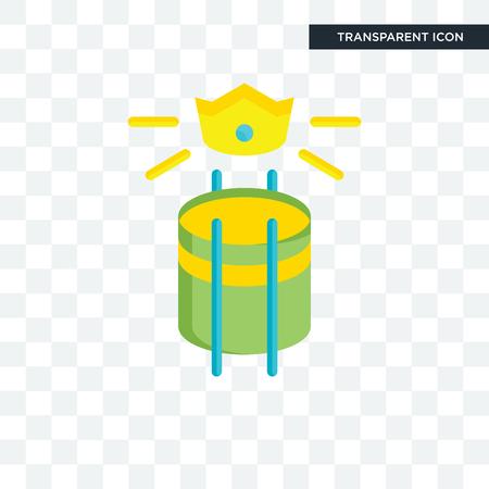 Icono de vector de blasón aislado sobre fondo transparente, concepto de logo de blasón