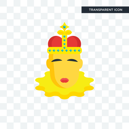 King momo vector icon isolated on transparent background, King momo logo concept