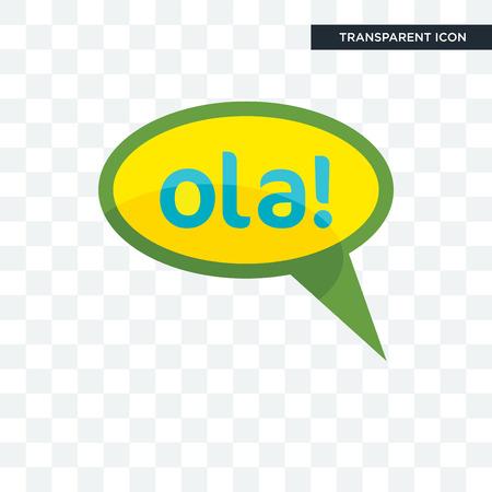 Olá vector icon isolated on transparent background, Olá logo concept