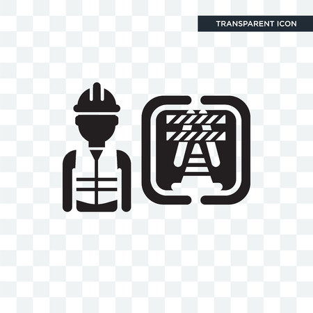 Worker vector icon isolated on transparent background, Worker logo concept