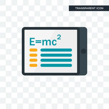 Einstein vector icon isolated on transparent background, Einstein logo concept Illustration