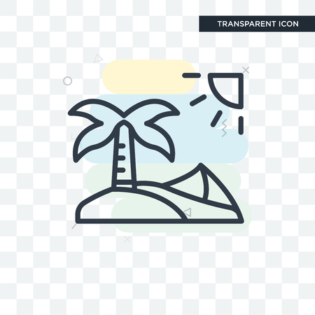 Oasis vector icon isolated on transparent background, Oasis logo concept Illustration