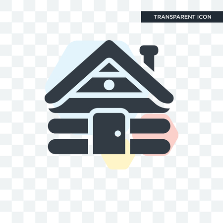 Cabin vector icon isolated on transparent background, Cabin logo concept