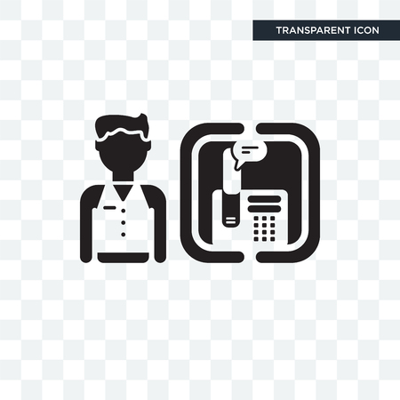 Receptionist vector icon isolated on transparent background, Receptionist logo concept