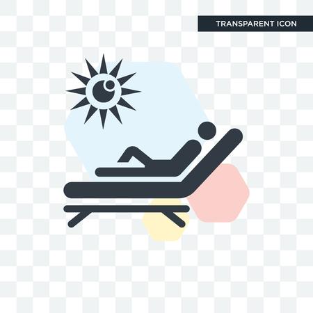 Sunbathing vector icon isolated on transparent background, Sunbathing logo concept