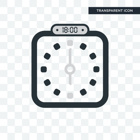 The 18:00, 6pm vector icon isolated on transparent background, The 18:00, 6pm logo concept