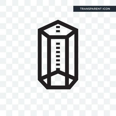 Icône de vecteur de forme de prisme hexagonal isolé sur fond transparent, concept de logo de forme de prisme hexagonal Logo
