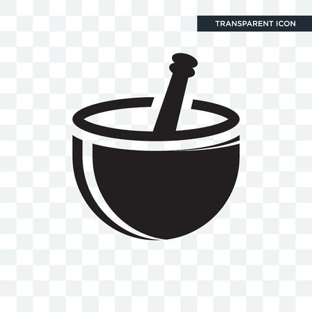 Mortar vector icon isolated on transparent background, Mortar logo concept Logo