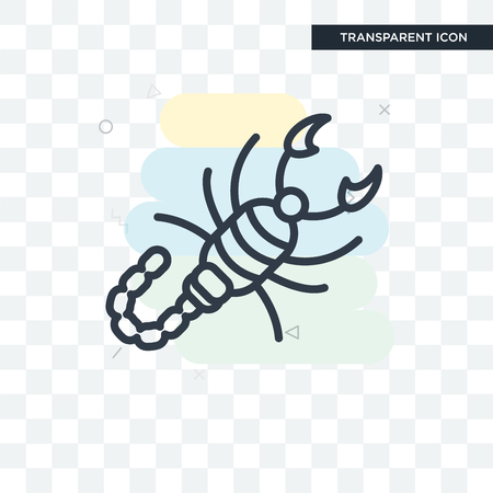 Scorpion vector icon isolated on transparent background, Scorpion logo concept Illustration