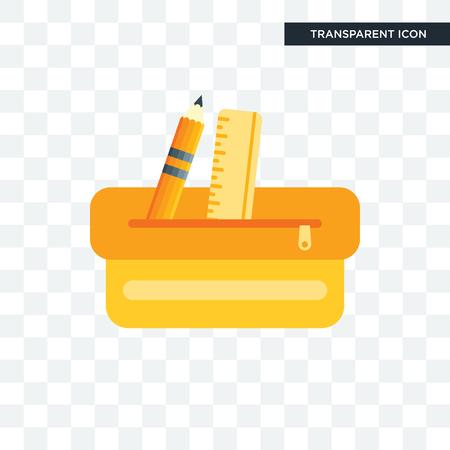 Potlood geval vector pictogram geïsoleerd op transparante achtergrond, potlood geval logo concept Logo