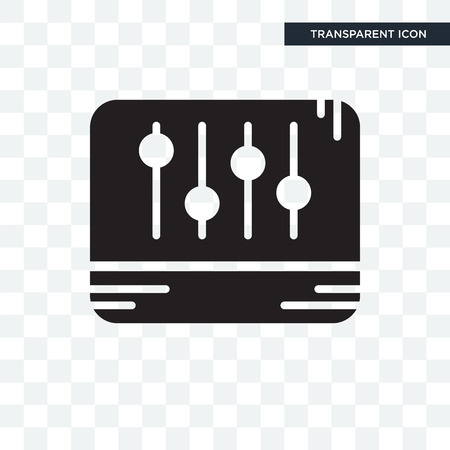 Levels vector icon isolated on transparent background, Levels logo concept Illustration