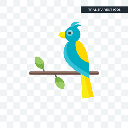 Parrot vector icon isolated on transparent background, Parrot logo concept Banque d'images - 108636841