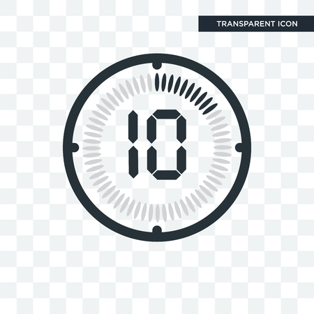 The 10 minutes vector icon isolated on transparent background, The 10 minutes logo concept