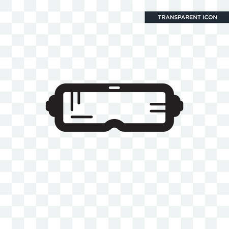goggle rift vector icon isolated on transparent background, goggle rift logo concept 向量圖像