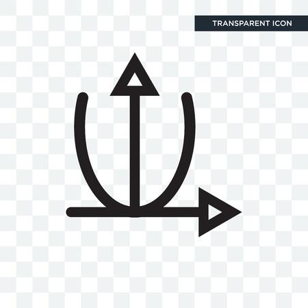 Parabolic function vector icon isolated on transparent background, Parabolic function logo concept