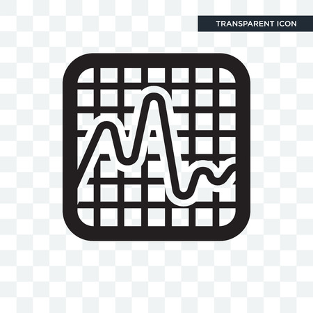 Smooth line chart vector icon isolated on transparent background, Smooth line chart logo concept
