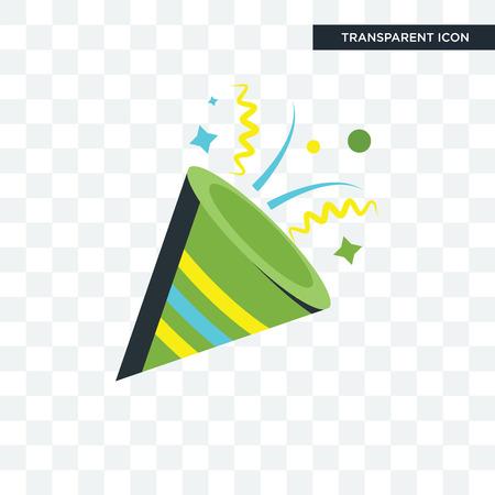 Confetti vector icon isolated on transparent background, Confetti logo concept