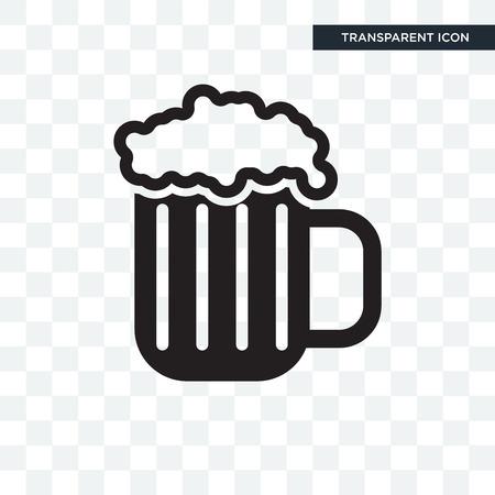 Pint des Biervektorsymbol lokalisiert auf transparentem Hintergrund, Pint des Bierlogokonzepts