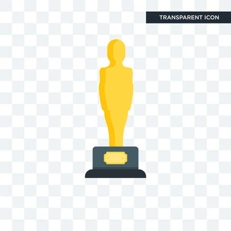 Oscar vector icon isolated on transparent background, Oscar logo concept 向量圖像