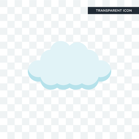 cloud vector icon isolated on transparent background