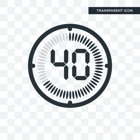 The 40 minutes vector icon isolated on transparent background