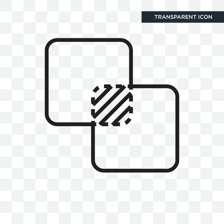 Vereinigen Sie Vektorikone lokalisiert auf transparentem Hintergrund, vereinigen Sie Logo-Konzept