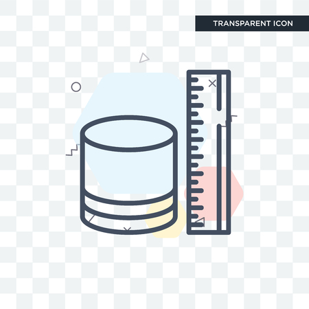 Measure vector icon isolated on transparent background, Measure logo concept