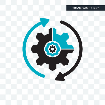 Workflow vector icon isolated on transparent background, Workflow logo concept