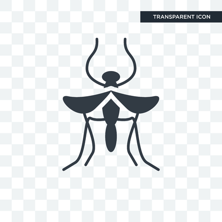 Mosquito vector icon isolated on transparent background, Mosquito logo concept Ilustracja