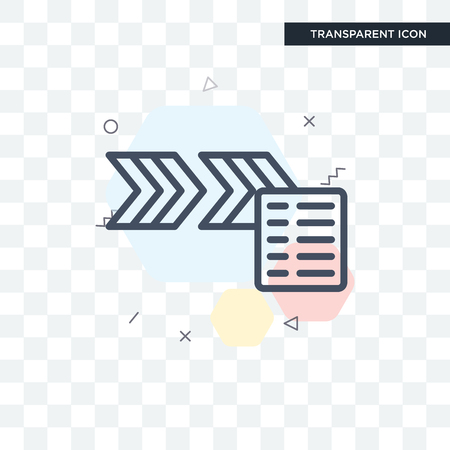 Flow vector icon isolated on transparent background, Flow logo concept