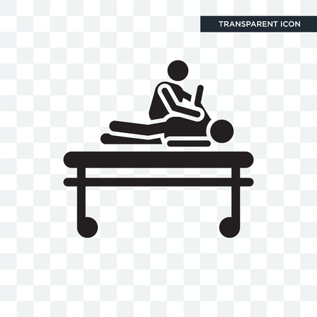 Chiropractic vector icon isolated on transparent background, Chiropractic logo concept