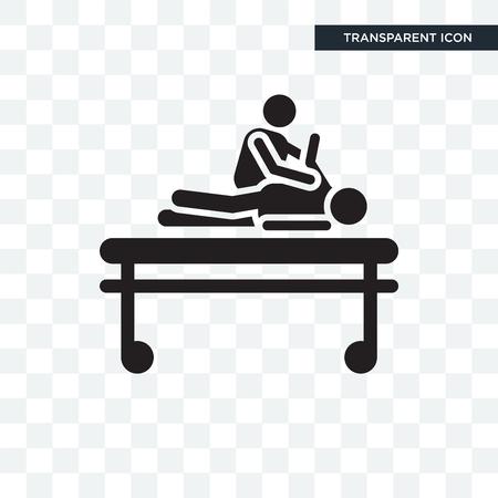 Chiropraktyka wektor ikona na białym tle na przezroczystym tle, koncepcja logo chiropraktyka